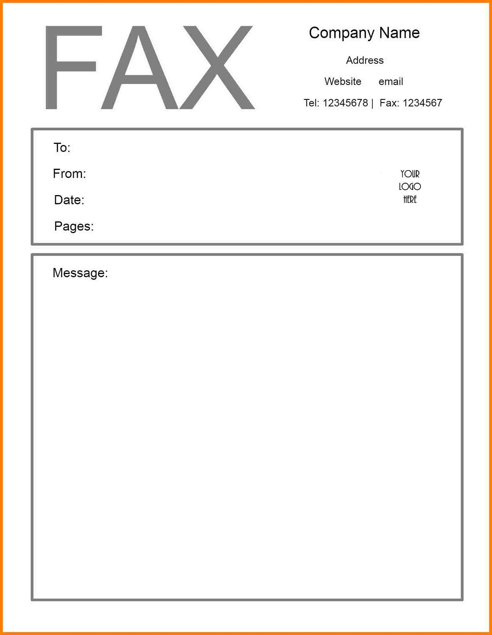 It is a photo of Persnickety Printable Fax Cover Sheet Free
