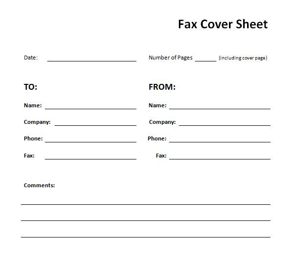 graphic relating to Printable Fax Cover Sheets titled 41 Totally free Printable Fax Protect Sheet Pdf Template that On your own can