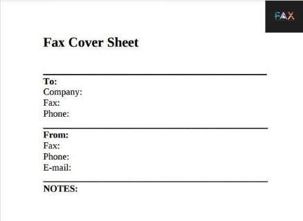 Fax Cover Sheet Edit Free Template Doc Download Pdf
