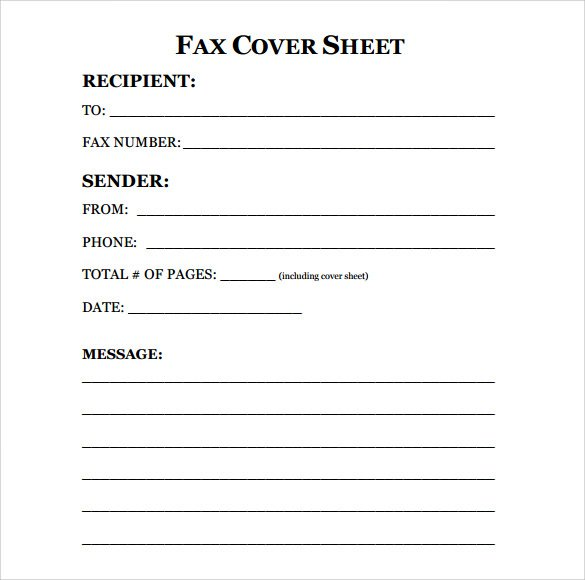 Professional Fax Cover Sheet