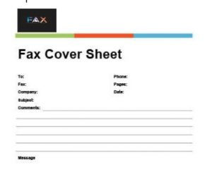 BANNER FAX COVER