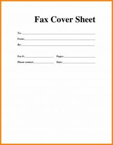 Free Download Fax Cover Sheet Template