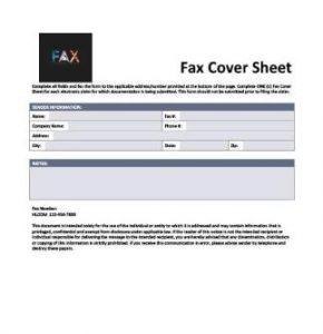 E-CLAIM COVER FAX