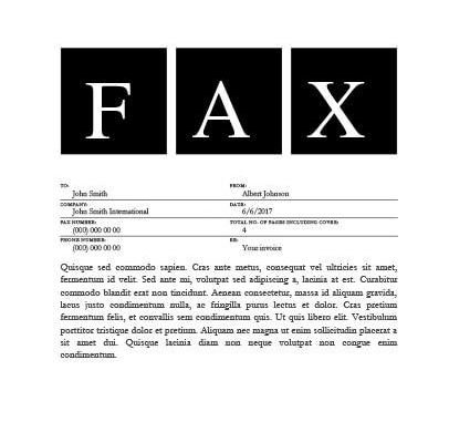 Big Square Fax Cover Sheet