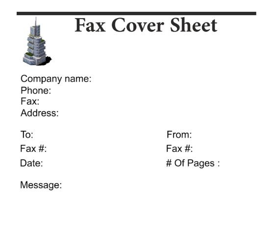 Free Downtown Fax Cover Sheet