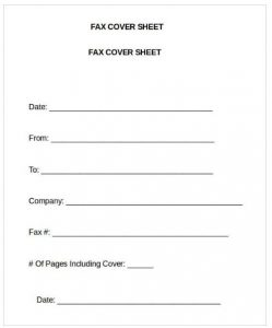 General Fax Cover Sheet Word Template