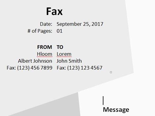 Geometric Fax