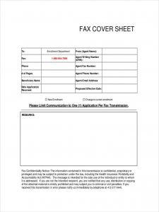 e-claim fax cover sheet