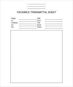 Facsimile Transmittal sheet