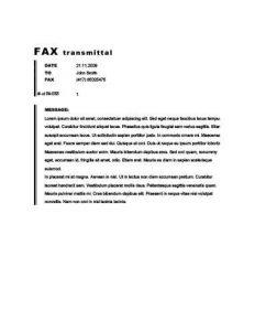 fax sheet image