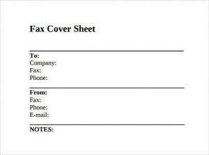fax cover sheet image