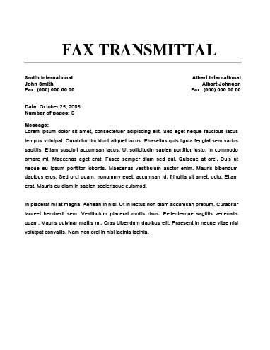 cover efficient fax cover sheet