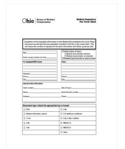 MEDICAL REPOSITORY FAX COVER SHEET