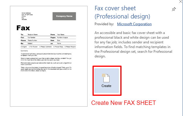 Microsoft Fax Cover Sheet Free