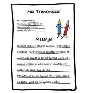 PENCIL FAX COVER