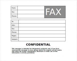 Confidential Fax Cover Sheet PDF