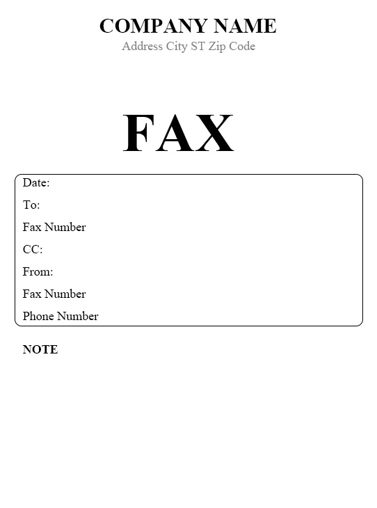 download basic fax cover sheet
