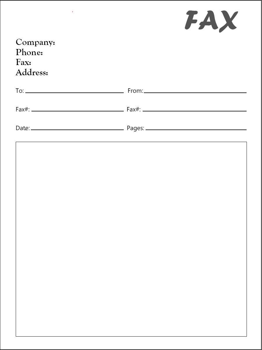 free fax cover sheet pdf