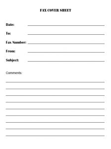 free confidential fax cover sheet