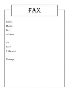 Free Holiday Fax Cover Sheet