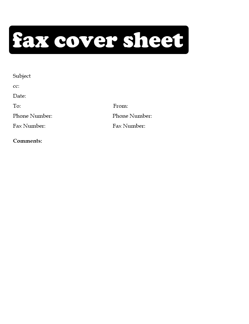 Printable IRS Fax Cover Sheet