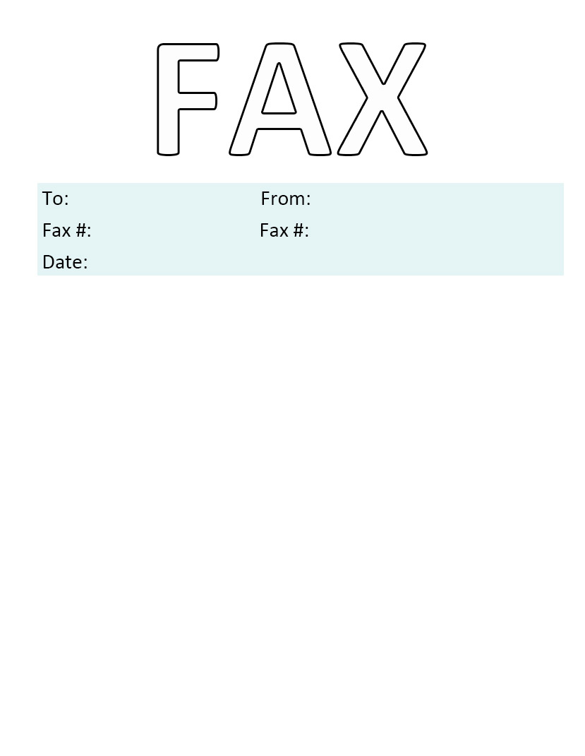 Printable Personal Fax Cover Sheet PDF