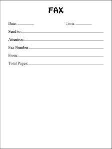 Google Docs fax cover sheet