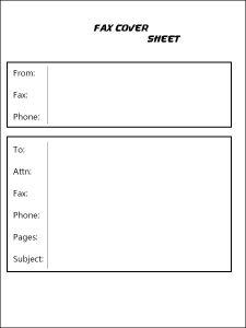 free Google Docs fax cover sheet