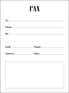 printable fax cover sheet word